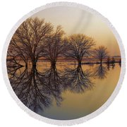 Upon Reflection Round Beach Towel