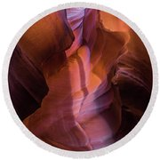 Upper Antelope Canyon 2 Round Beach Towel