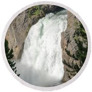 Upper Falls Round Beach Towel