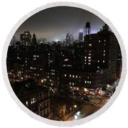 Upper West Side Round Beach Towel by JoAnn Lense