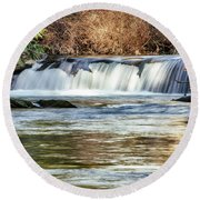 Upper Whatcom Falls Round Beach Towel