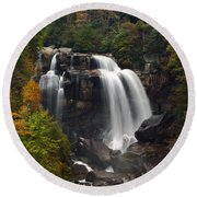 Upper Whitewater Falls - Nc Round Beach Towel