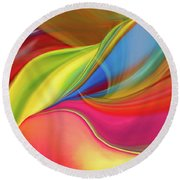 Upside Down Inside Out Round Beach Towel
