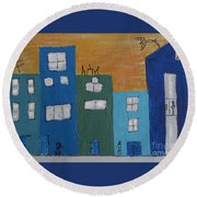 Uptown Fun Round Beach Towel