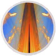 Upwards Two  Round Beach Towel by Lyle Crump