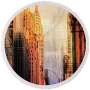 Urban Abstract Round Beach Towel