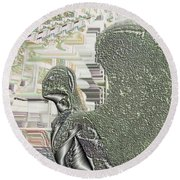Urban Angel Round Beach Towel