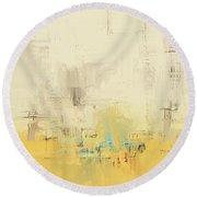 Round Beach Towel featuring the mixed media Urban Decay by Eduardo Tavares