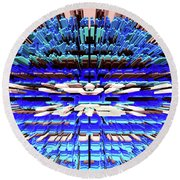 Round Beach Towel featuring the photograph Urban Expansion Mode by Kellice Swaggerty