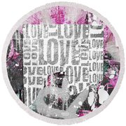 Urban Love Round Beach Towel