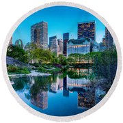 Urban Oasis Round Beach Towel by Az Jackson
