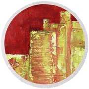 Urban Renewal I Round Beach Towel
