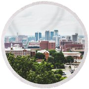 Round Beach Towel featuring the photograph Urban Scenes In Birmingham  by Shelby Young