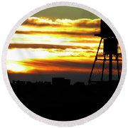 Urban Sunrise Round Beach Towel