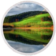 Urkulu Reservoir Round Beach Towel