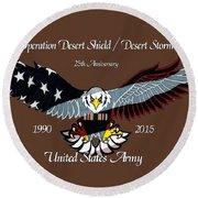 Us Army Desert Storm Round Beach Towel