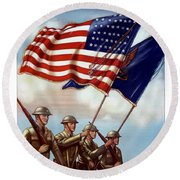 Us Army -- Guardian Of The Colors Round Beach Towel