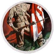 Us Army -- World War Two Propaganda Round Beach Towel