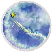 Us Navy Seals Colorful Parachute Jump Round Beach Towel