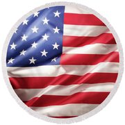Usa Flag No.66 Round Beach Towel