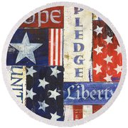 Usa Pride 1 Round Beach Towel