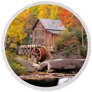 Round Beach Towel featuring the photograph Usa, West Virginia, Glade Creek Grist by Panoramic Images