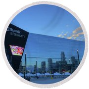 Usbank Stadium Morning Round Beach Towel