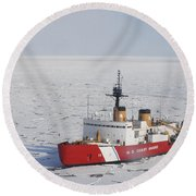 Uscgc Polar Sea Conducts A Research Round Beach Towel