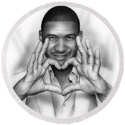 Usher Round Beach Towel