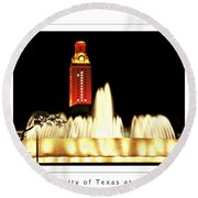 Ut Tower Poster Round Beach Towel by Marilyn Hunt