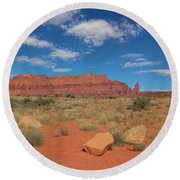 Round Beach Towel featuring the photograph Utah Canyons by Heidi Hermes