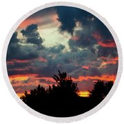 Round Beach Towel featuring the photograph Utah Sunset by Bryan Carter