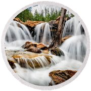 Utah Waterfall Round Beach Towel