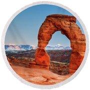 Utah's Arch Round Beach Towel