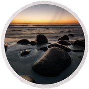Uttakleiv Rocks Round Beach Towel