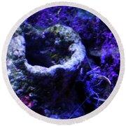 Round Beach Towel featuring the digital art Uw Coral Stone by Francesca Mackenney