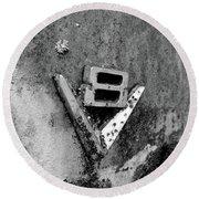 V8 Emblem Round Beach Towel