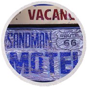 Vacancy Sign Round Beach Towel