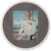 Vadm Robert Claude Simpson-anderson Round Beach Towel