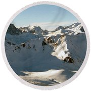 Val D' Ise're Alps Round Beach Towel