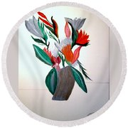 Valentine By Bill O'connor Round Beach Towel by Bill OConnor