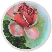 Round Beach Towel featuring the digital art  Valentine's Day by Andrzej Szczerski