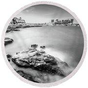 Round Beach Towel featuring the photograph Valetta by Okan YILMAZ