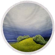Valle Vista Meadow Round Beach Towel