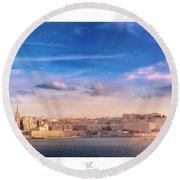 Valletta Round Beach Towel
