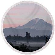 Valley Mists Round Beach Towel by Shirley Heyn