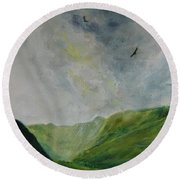 Valley Of Eagles Round Beach Towel