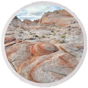 Valley Of Fire Beehives Round Beach Towel by Ray Mathis