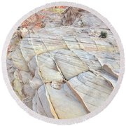 Valley Of Fire Sandstone Round Beach Towel by Ray Mathis