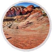 Valley Of Fire State Park Nevada Round Beach Towel by James Hammond